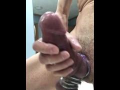 "3"" thick cock cums again"