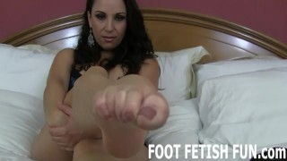 Foot Licking and Femdom Foot Humiliation Feet off