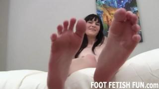 Foot Licking and Femdom Foot Humiliation Boobs tattooed