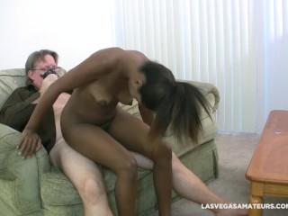 Ebony slut ashlynn sixx creampie surprise during her...