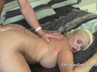 busty blonde bombshell Angel Vain gets fucked HARD