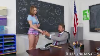 Jules Jordan - Jill Kassidy Naughty School Girl Gets The D In Detention Pornhub.com fingering