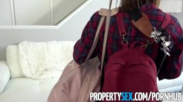 PropertySex - Sexy ass couch surfer cures germaphobe with her pussy