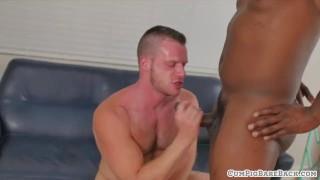 Hunky bear cums while riding black cock Cock ass