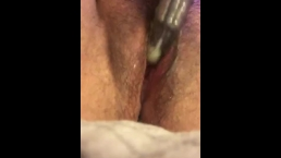 A squirting orgasm with my fav. toy