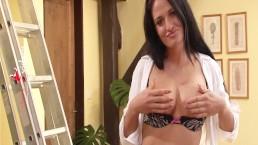 StockingVideos - Horny secretary in crotchless panties