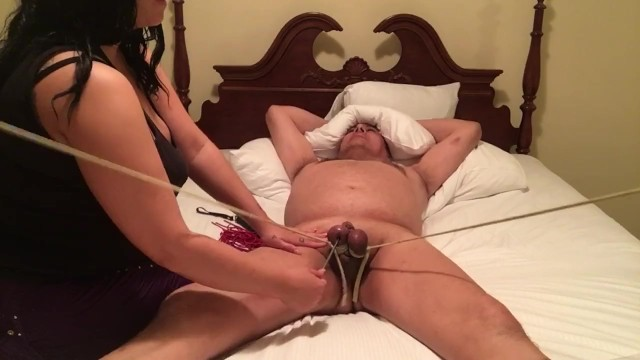 Post menopausal stretch marks in breasts Balls stretched and tied to bed posts and tortured