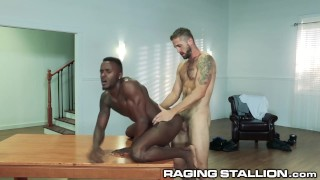 Hot & Rough Daddy Fucks Younger Black Muscle Guy HARD