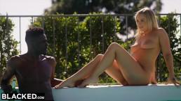 BLACKED Hot Blonde Secretly Fucks Her Roommates BF