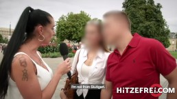 HITZEFREI Texas Patti Hunts Down Amateur Couple For Hardcore Outdoor Sex