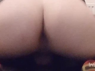 Asss bouncing...