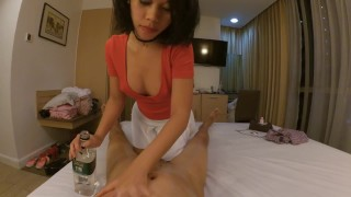 Girl cheap creampied fucked and massage condom for