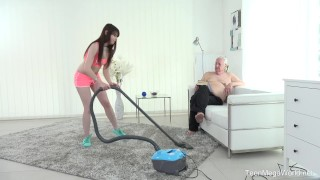 Old-n-Young.com - Luna Rival - Old man makes sweetie kneel Tits jane