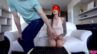 Marley Brinx - Touch My Body Challenge - Bratty Sis  point of view toy fucking blindfold emo missionary skinny petite dark haired flexible tattoos stepsister adult toys alternative