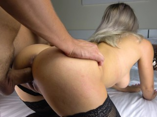 Perfect Ass Blowjob and Cum on Legs