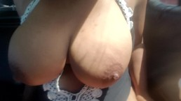 Drunk Latina Uber Passenger Twerks Fat Ass and Shakes Huge Tits for Driver