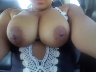 """Horny Uber Passenger Cant Wont Rubbing her Big tits to Drake's """"God's Plan"""""""
