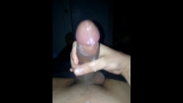 "Latino Strokes His 11"" Cock Late Night CumShot !!"