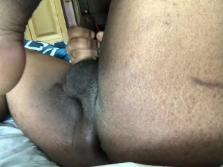 Anal stretching and a cumshot