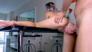 Teen Fuck on Table Closeup