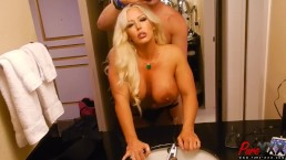 Fucking Alura in the bathroom before our scene