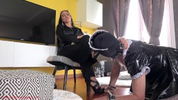 Shoe cleaning maid punishment Preview