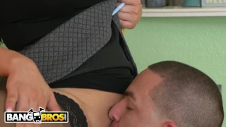 BANGBROS - Peter Green Deals With A Difficult Latin Property Manager Named Perky paddle