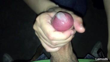She handjob my cock in a public hidden room until flowing cum a LOT!