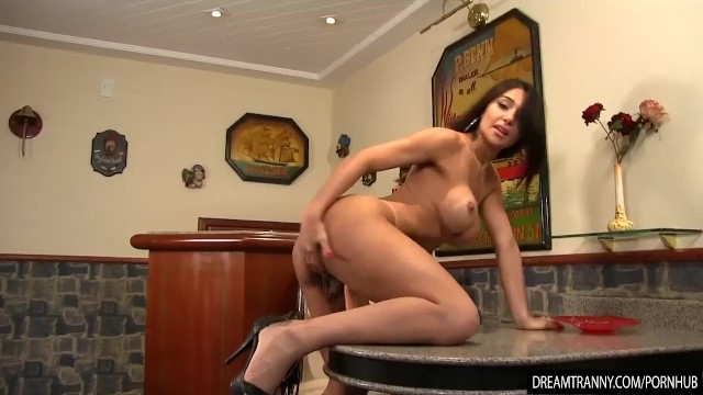 Fat trannies clips Slinky shemale jessy lemos rides a fat dildo with her puckered asshole