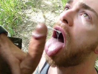 So full of cum and so pent-up...we filled Chase's bubble ass with cum