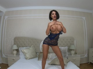 Anisyia Livejasmin 4k see through dress dancing and fingering