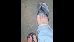 My girl public dirty foot worship 2