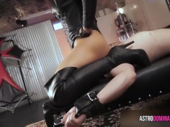 Leather Facesitting - Asian Face Sitting