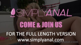 Lesbian Anal - Lita and Oprah take turns anal fucking with a vibrator