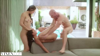 VIXEN Two Naughty College Students Sneak Into A Pool and Fuck A Huge Cock Big vixen