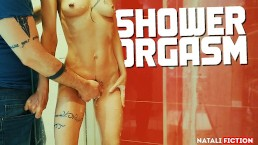 My boyfriend makes me have several orgasms in the shower - Natali Fiction