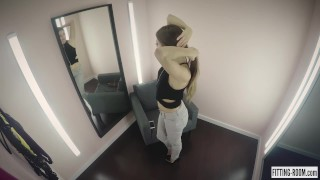 Ukrainian Talia Mint gets in a lingerie shop and masturbates hard Tiny analized