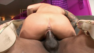 PERFECT YOUNG PROM QUEEN SUCKS & FUCKS BLACK DICK FOR THE FIRST TIME