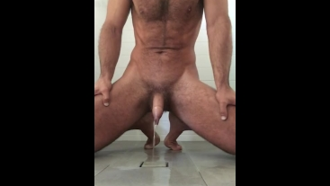 Wank and cum and piss before my shower