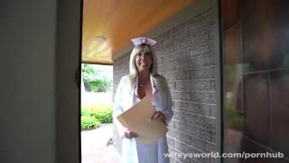 Busty Nurse Wants To Swallow Your Jizz