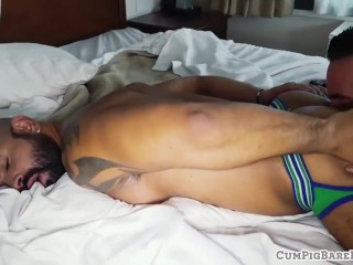Bearded wolf drilling tight asshole
