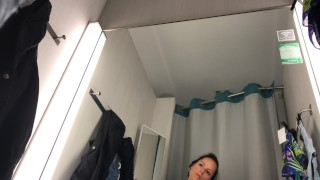 Public masturbation in changing room - VERY HOT !!!  public fingering mother fitness babe public changing room sexy brunette verified amateur outside public masturbate mom
