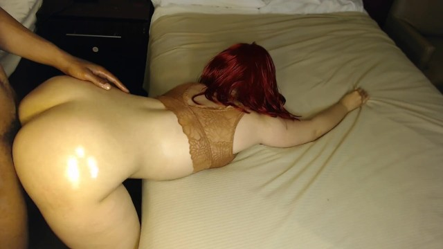 Red head gets fucked good bent over at hotel, very sexy! 17