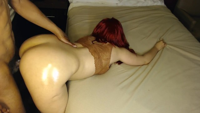 Red head gets fucked good bent over at hotel, very sexy! 49