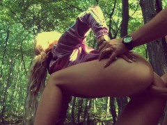 Outdoor ANAL in Forest with Deep Cum in Fit ASS - Adventurescouple