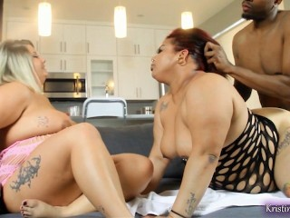 White and Latina BBW Lesbians Bred by BBC