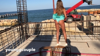 Exclusive Teen gets rough ass fuck on a construction site.HD
