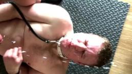 HUGE Cumshot Soaks Dex As A Reward For His Slavery & Service at Party!!!
