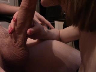 Quick edit - Amateur blowjob with cum on tits