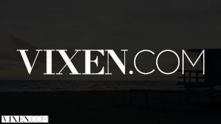 VIXEN Kenna James Gets Dominated By Natalia Starr and Her Boyfriend 3some orgasm